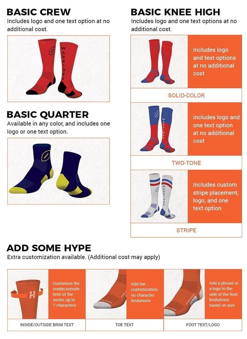 High Performance Custom Football Socks   Custom Logo Elite